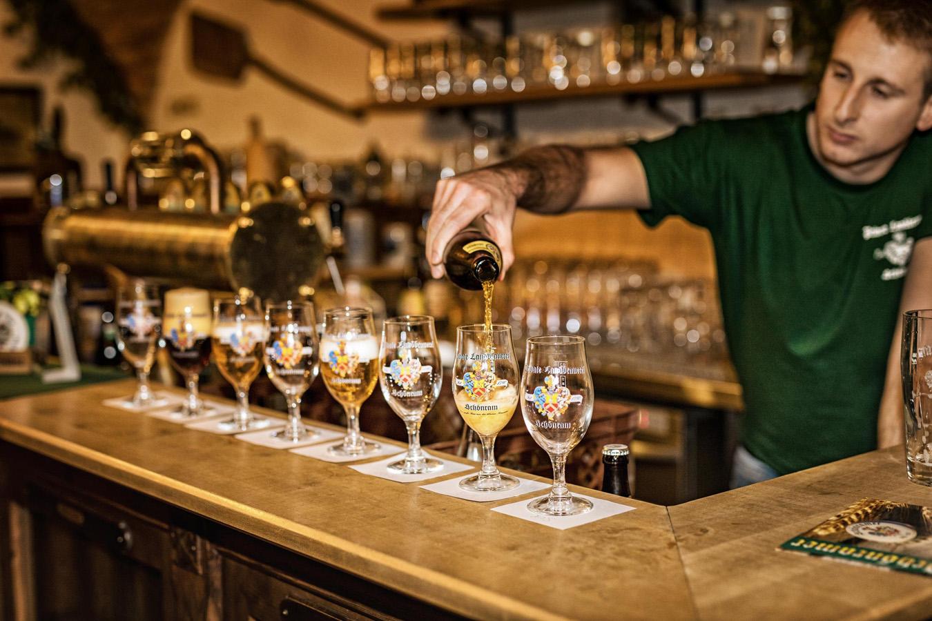 Ausschank Bierverkostung in Bayern: Landbrauerei Schönram