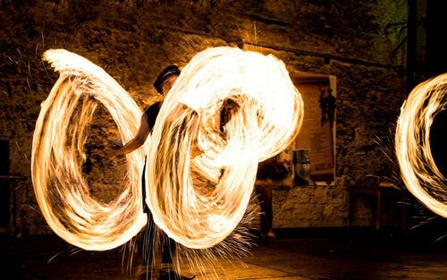 Effner Burgtage Tittmoning 2016 Feuershow 3689