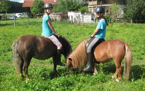 Foto Maedels Auf Pferden