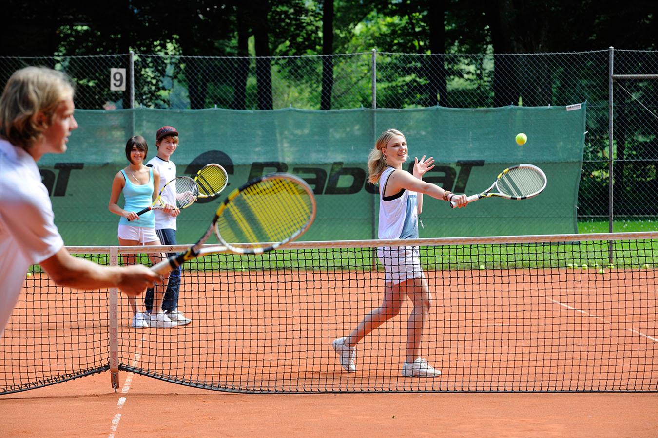 Tennistraining bei Sepp Baumgartner